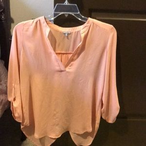 Peach, mid-sleeve Charlotte Russe top. Medium.